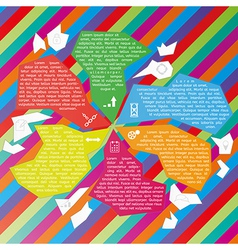 abstract fragments infographic template vector image vector image