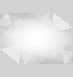 abstract gray and white triangular background vector image