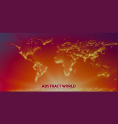 Abstract world map constructed of vector