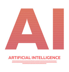 ai letter artificial intelligence with binary code vector image
