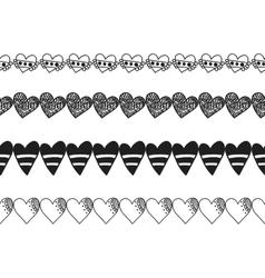 Black and white decorative ornament pattern vector