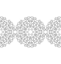 Black and white snowflakes for coloring book vector
