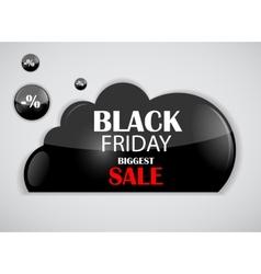 Black Friday Sale Icon vector image vector image