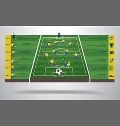 Brazilian soccer football player vector image vector image