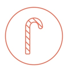 Candy cane line icon vector image vector image