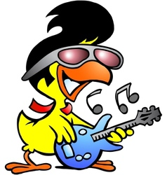 Chicken guitar vector