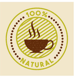 Coffee stevia natural sweetener vector