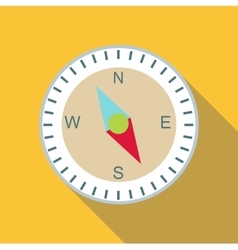 Compass icon flat style vector