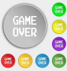 Game over concept icon sign symbol on eight flat vector