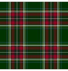 Green red check tartan textile seamless pattern vector