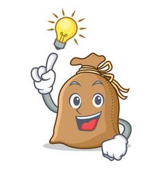 Have an idea sack mascot cartoon style vector