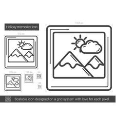 Holiday memories line icon vector
