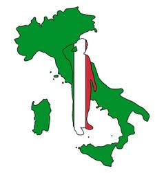 Italian Salute vector image
