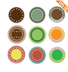 Label stitch sticker tag - - eps10 vector