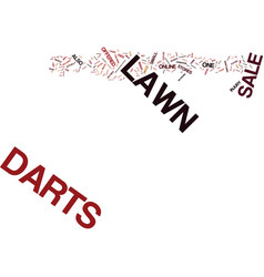 Lawn darts for sale text background word cloud vector
