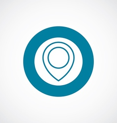 Map pin icon bold blue circle border vector