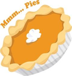 Mmmm pies vector