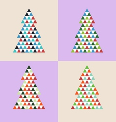 mosaic Christmas tree isolated vector image