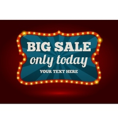 Neon advertising sign - big sale vector