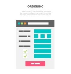 Ordering Website Element Design vector image vector image