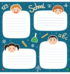 School tags vector