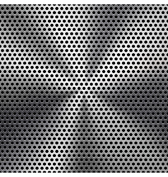 Seamless Circle Perforated Metal Grill Texture vector image