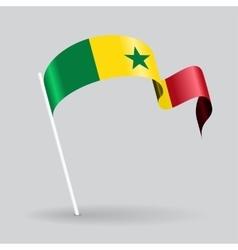 Senegalese wavy flag vector image