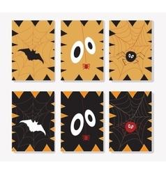 Set of Halloween ards vector image