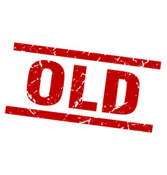 Square grunge red old stamp vector