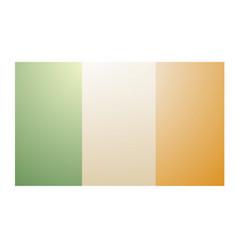 Vintage ireland flag vector