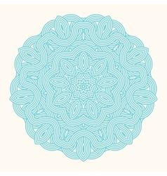 winter celtic knot pattern card mandala amulet vector image vector image