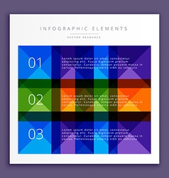 Colorful infographic steps vector