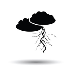 Clouds and lightning icon vector
