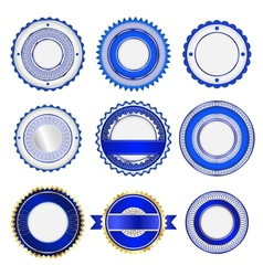 Set of badges labels and stickers in blue vector image