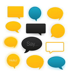 comic speech bubbles icon set vector image