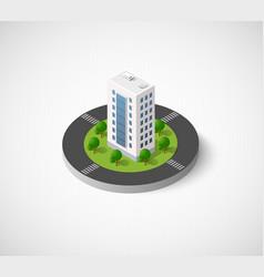 Isometric city icon vector