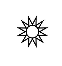 Sun summer icon vector