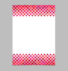 Diagonal square pattern page border template - vector