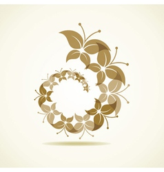 Brown butterfly icon vector
