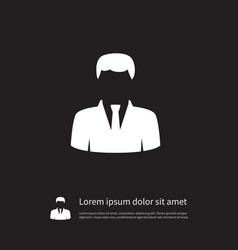 Isolated statesman icon president element vector