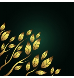 golden leaves vector image