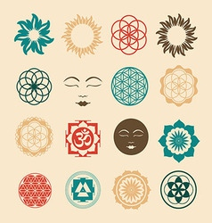 Esoteric icons set vector image