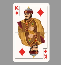 King of diamonds playing card vector