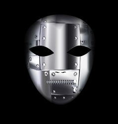 Carnival metal mask vector