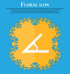 Angle 45 degrees icon sign floral flat design on a vector