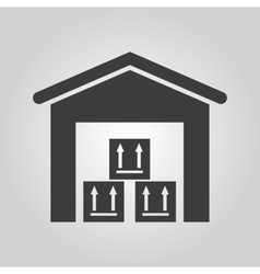 The warehouse icon storehouse and logistic symbol vector