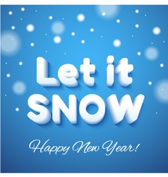 Let it snow 3d lettering vector