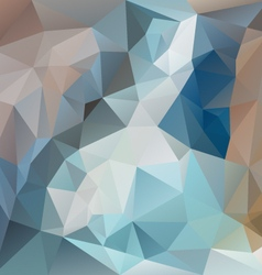 Blue brown polygonal triangular pattern background vector