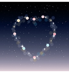 Starry heart as a constellation vector