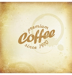 Vintage coffee poster coffee stains and rings on vector